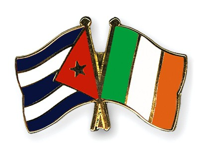 Special Offer Crossed Flag Pins Cuba-Ireland
