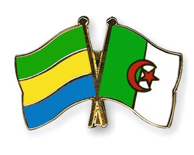 Crossed Flag Pins Gabon-Algeria