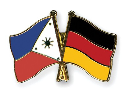 Crossed Flag Pins Philippines-Germany