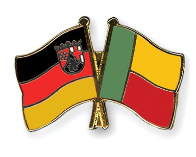 Crossed Flag Pins Rhineland-Palatinate-Benin