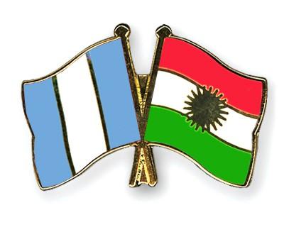 Crossed Flag Pins Guatemala-Kurdistan