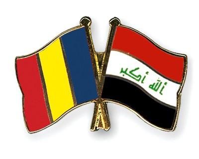 Crossed Flag Pins Romania-Iraq