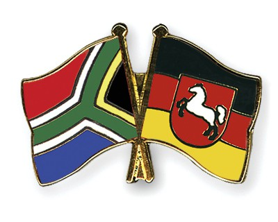 Special Offer Crossed Flag Pins South-Africa-Lower-Saxony
