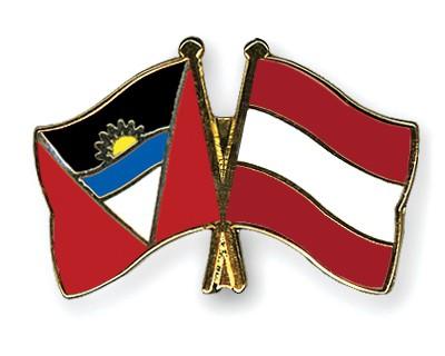 Crossed Flag Pins Antigua-and-Barbuda-Austria