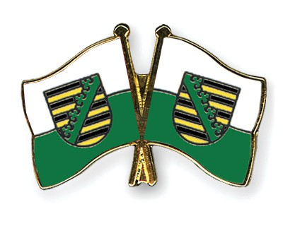 Crossed Flag Pins Saxony-Saxony
