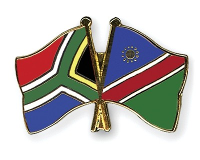 Special Offer Crossed Flag Pins South-Africa-Namibia
