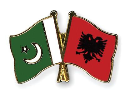 Crossed Flag Pins Pakistan-Albania