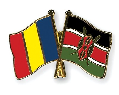 Special Offer Crossed Flag Pins Romania-Kenya