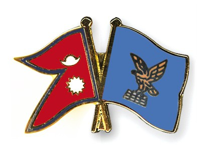 Crossed Flag Pins Nepal-Friuli-Venezia-Giulia