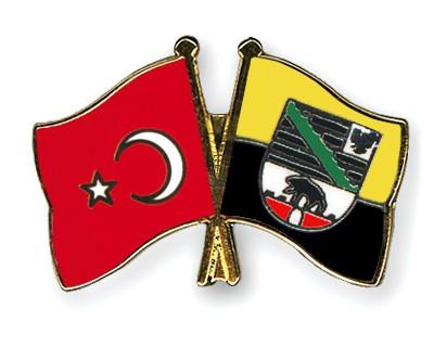 Crossed Flag Pins Turkey-Saxony-Anhalt