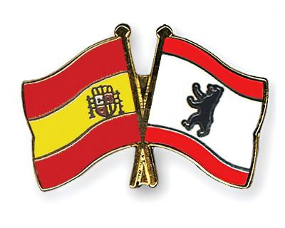 Crossed Flag Pins Spain-Berlin
