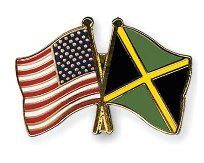 Special Offer Crossed Flag Pins USA-Jamaica