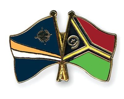 Crossed Flag Pins Marshall-Islands-Vanuatu
