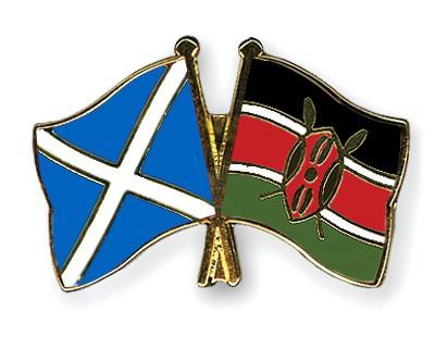Special Offer Crossed Flag Pins Scotland-Kenya