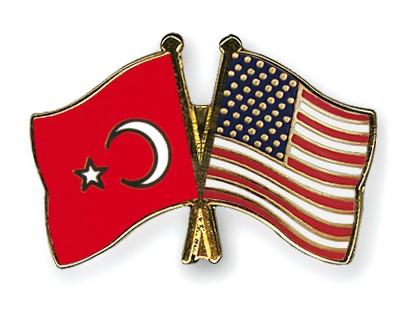 Crossed Flag Pins Turkey-USA