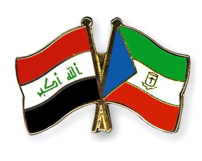 Crossed Flag Pins Iraq-Equatorial-Guinea