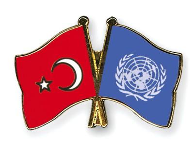 Crossed Flag Pins Turkey-UNO