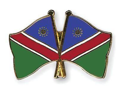 Crossed Flag Pins Namibia-Namibia
