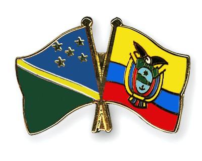 Crossed Flag Pins Solomon-Islands-Ecuador