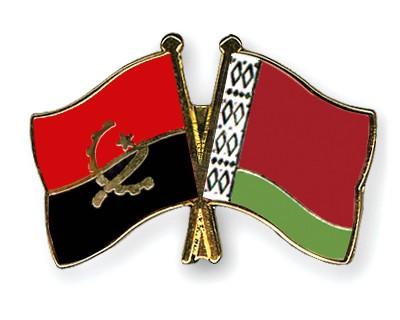 Crossed Flag Pins Angola-Belarus