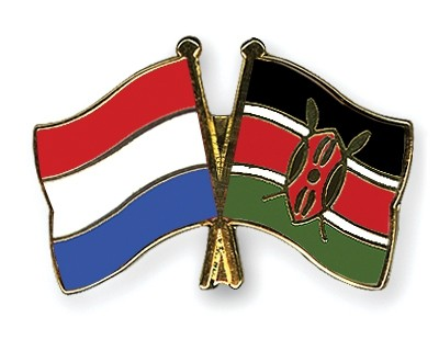 Special Offer Crossed Flag Pins Netherlands-Kenya