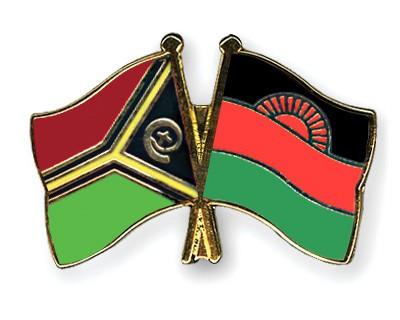 Crossed Flag Pins Vanuatu-Malawi