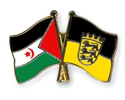 Crossed Flag Pins Western-Sahara-Baden-Wuerttemberg