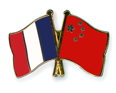 Crossed Flag Pins France-China