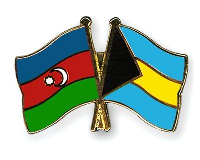Crossed Flag Pins Azerbaijan-Bahamas