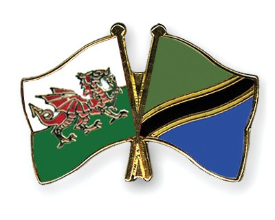 Special Offer Crossed Flag Pins Wales-Tanzania