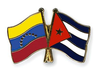 Crossed Flag Pins Venezuela-Cuba