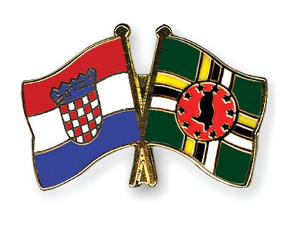Crossed Flag Pins Croatia-Dominica