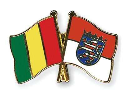 Crossed Flag Pins Guinea-Hesse