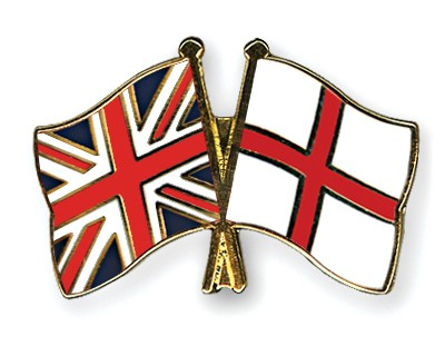 Special Offer Crossed Flag Pins Great Britain-England