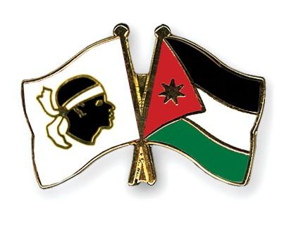 Crossed Flag Pins Corsica-Jordan