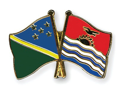 Crossed Flag Pins Solomon-Islands-Kiribati