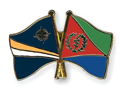 Crossed Flag Pins Marshall-Islands-Eritrea