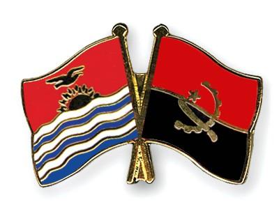 Crossed Flag Pins Kiribati-Angola