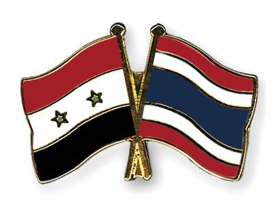 Crossed Flag Pins Syria-Thailand
