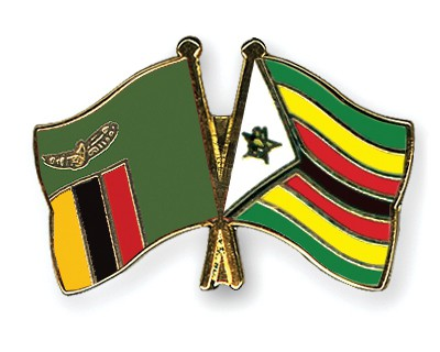 Crossed Flag Pins Zambia-Zimbabwe