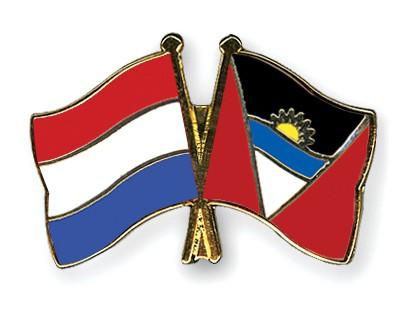 Crossed Flag Pins Netherlands-Antigua-and-Barbuda