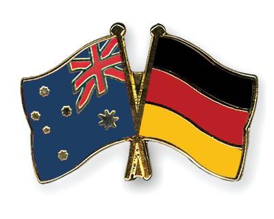 Crossed Flag Pins Australia-Germany