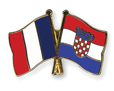 Special Offer Crossed Flag Pins France-Croatia