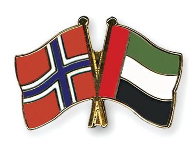Special Offer Crossed Flag Pins Norway-United-Arab-Emirates