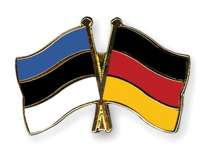 Special Offer Crossed Flag Pins Estonia-Germany