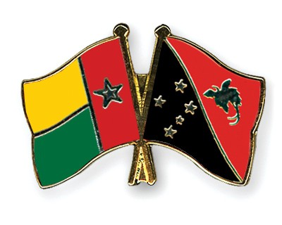 Crossed Flag Pins Guinea-Bissau-Papua-New-Guinea