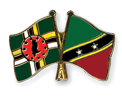 Crossed Flag Pins Dominica-Saint-Kitts-and-Nevis