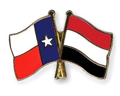 Crossed Flag Pins Texas-Yemen