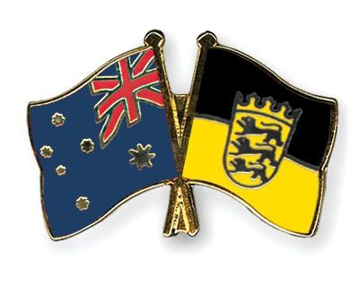 Crossed Flag Pins Australia-Baden-Wuerttemberg
