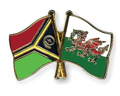 Crossed Flag Pins Vanuatu-Wales
